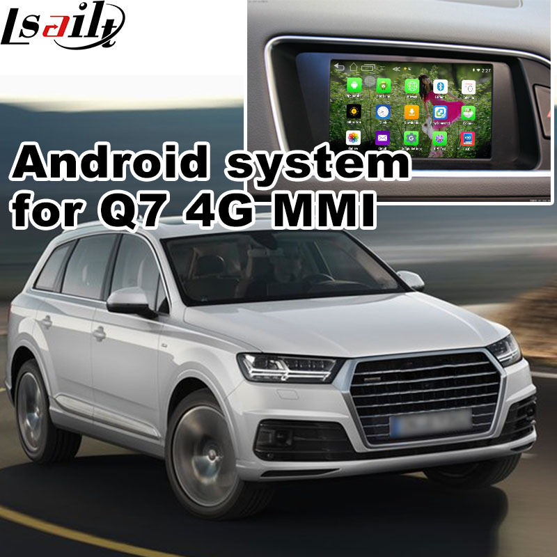 Android GPS навигации коробка для 2017 <font><b>Audi</b></font> Q7 4 г <font><b>MMI</b></font> и т. д. видео интерфейс коробка Зеркало Ссылка YouTube панорама Navi коробка
