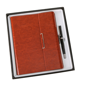 Image 2 - Özel yapılmış A5 ofis gevşek yapraklı defter hediye kutusu dizüstü imza kalem iş hediye seti özel yapılmış logo Spiral defter