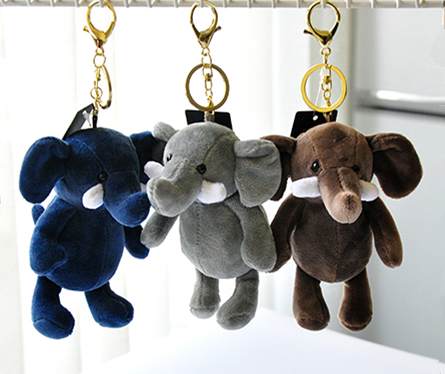 Cute Elephant Doll Keychain Keyring Plush Women Children Bag Charm Accessory Pendant Mini Animal Stuffed Toy Car Keychains Gift mini motorcycle helmet keychain cute keyring