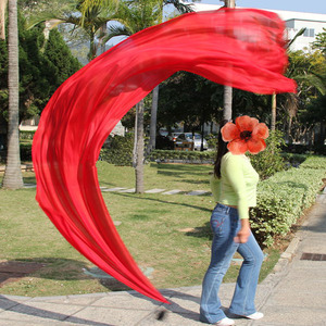 Image 3 - Новинка, шелковая вуаль пой для танца живота, 1 пара = 2 шт., шелковая вуаль + 2 шт., Poi chain ball, цветочный шелк S/M/L/XL