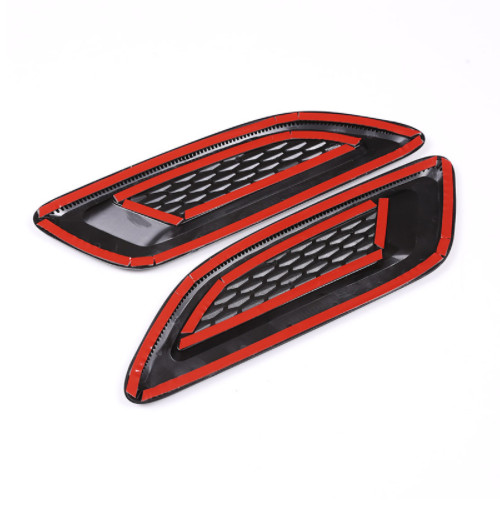 ABS Hood Air Vent Outlet Wing Trim For Land Rover Discovery Sport LR4 For Range Rover Evoque Vogue Car Accessories 2Pcs in Car Stickers from Automobiles Motorcycles