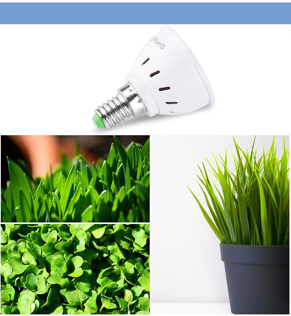 Фито светодиодный B22 гидропоники промышленная лампа E27 Светодиодная лампа для выращивания MR16 полный спектр 220 В UV светильник завод E14 цветок рассада фитолампа GU10
