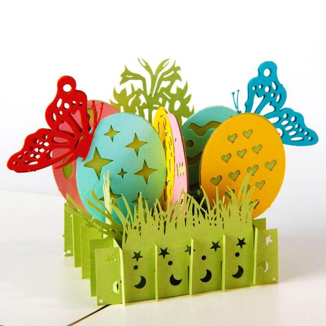 3d pop up handmade laser cut vintage cards easter eggs creative 3d pop up handmade laser cut vintage cards easter eggs creative gifts postcard greeting cards negle Images