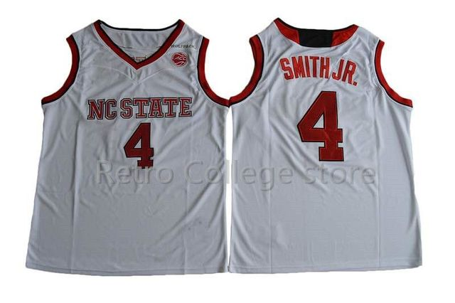#4 Dennis Smith JR. Jersey Mens Basketball NC State Wolfpack College Jerseys Sports All Stitched Team Color Red White Jerseys Cu