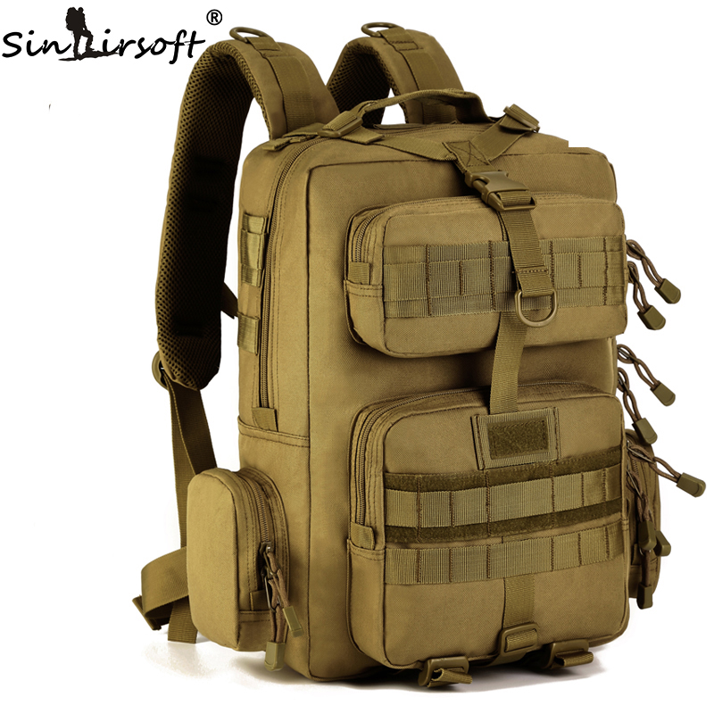 SINAIRSOFT Outdoor Climbing Bag Men's 1000D Nylon Sports Military Tactical Backpack Travel 30L Bags Hunting Hiking Shoulder Bag 40l men women molle system backpack nylon 1000d trek hunting military tactical backpack assault travel bag outdoor sports bag