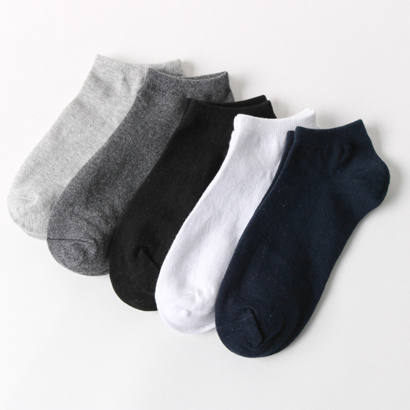 5pairs/lot Spring summer men cotton ankle Socks for mens business casual solid colors short socks male sock slippers 2018 ...