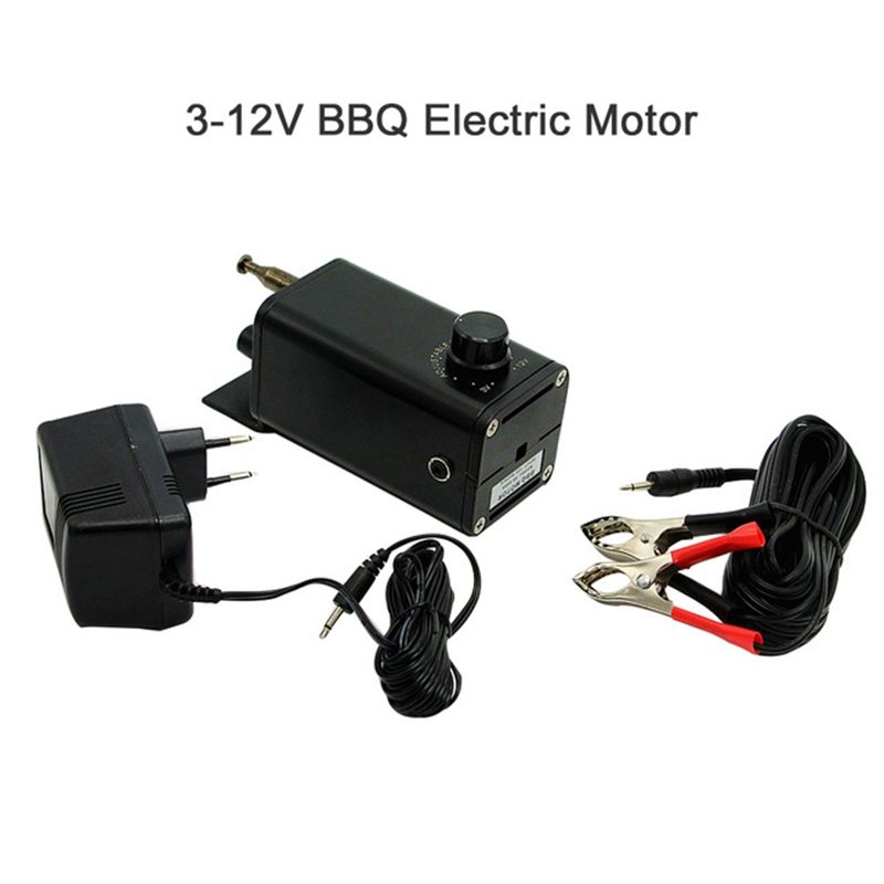 Charcoal Barbecue Part Grill Rotisserie BBQ Spit Electric Motor With Adjusting Speed Adaptor 110V 220V Spiedo Motor Bbq Asador in Rotisseries from Home Appliances