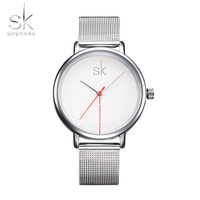 SK Fashion Women Watches Top Brand Stainless Steel Strap Women Wristwatches Ladies Quartz Clock Relogio Feminino