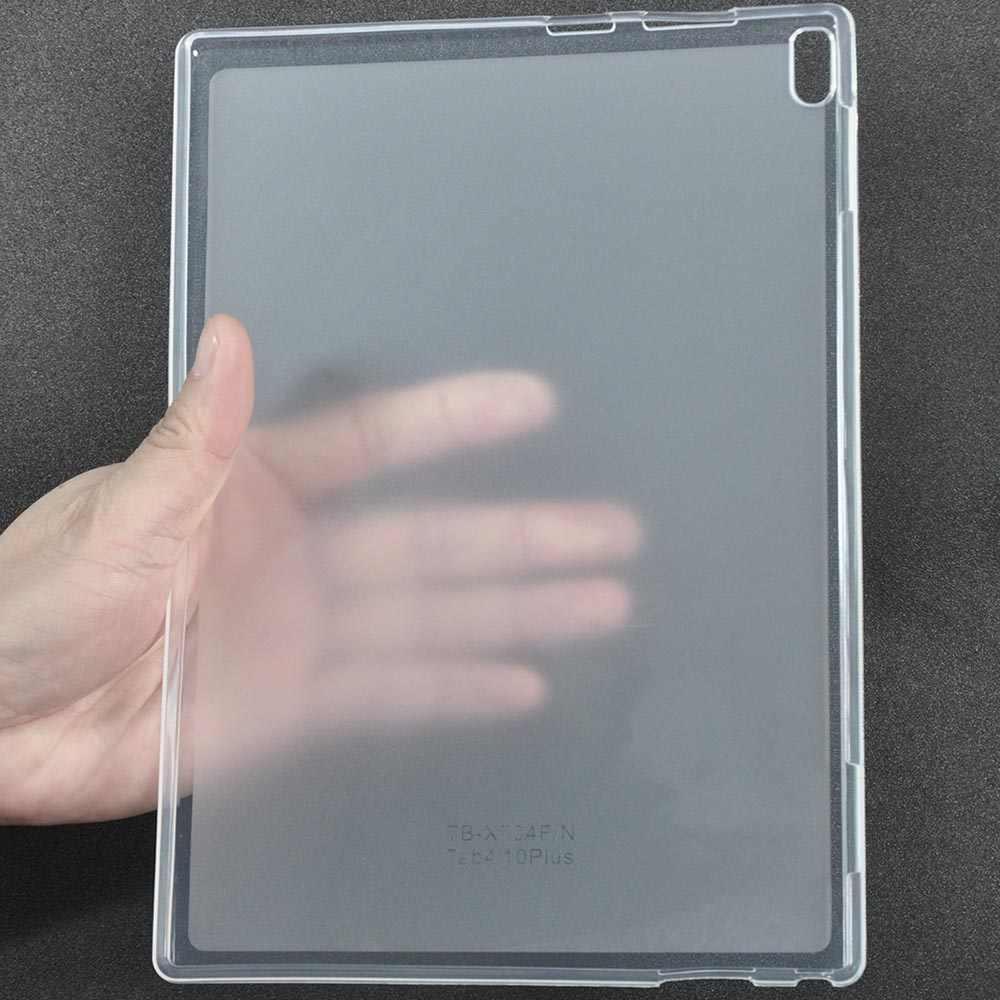 الخلفي حالة لينوفو TAB4 تبويب 4 10 زائد TB-X704N TB-X704F 10.1 بوصة جراب كمبيوتر لوحي لينة غطاء من البولي يوريثان الحراري قذيفة فوندا + ستايلس القلم