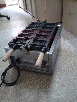 Бесплатная доставка 110 В/220 В Электрический Taiyaki машина с открытым ртом мороженое конус чайник