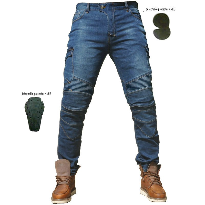 2018 MOTORPOOL UGB06 Camouflage Jeans Leisure Motorcycle Men's off road Outdoor Pants With Protect Equipment Knee Pads