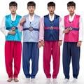 Новое поступление мужчины ханбок мужской корея традиция костюм 3 шт. Hanfu корея народная одежда сценическое ну вечеринку косплей костюм 16
