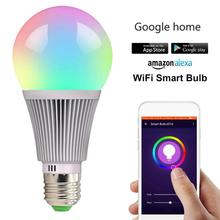 Fcmila Smart LED Bulb WiFi Lights Multicolored E27 E26 E14 B22 Lamps Lighting CompatibleGoogle Assistant BTZ1