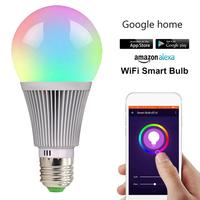 Fcmila Smart LED Bulb WiFi Lights Multicolored E27 E26 E14 B22 LED Lamps Dimmable Daylight Home Lighting Compatible With Alexa