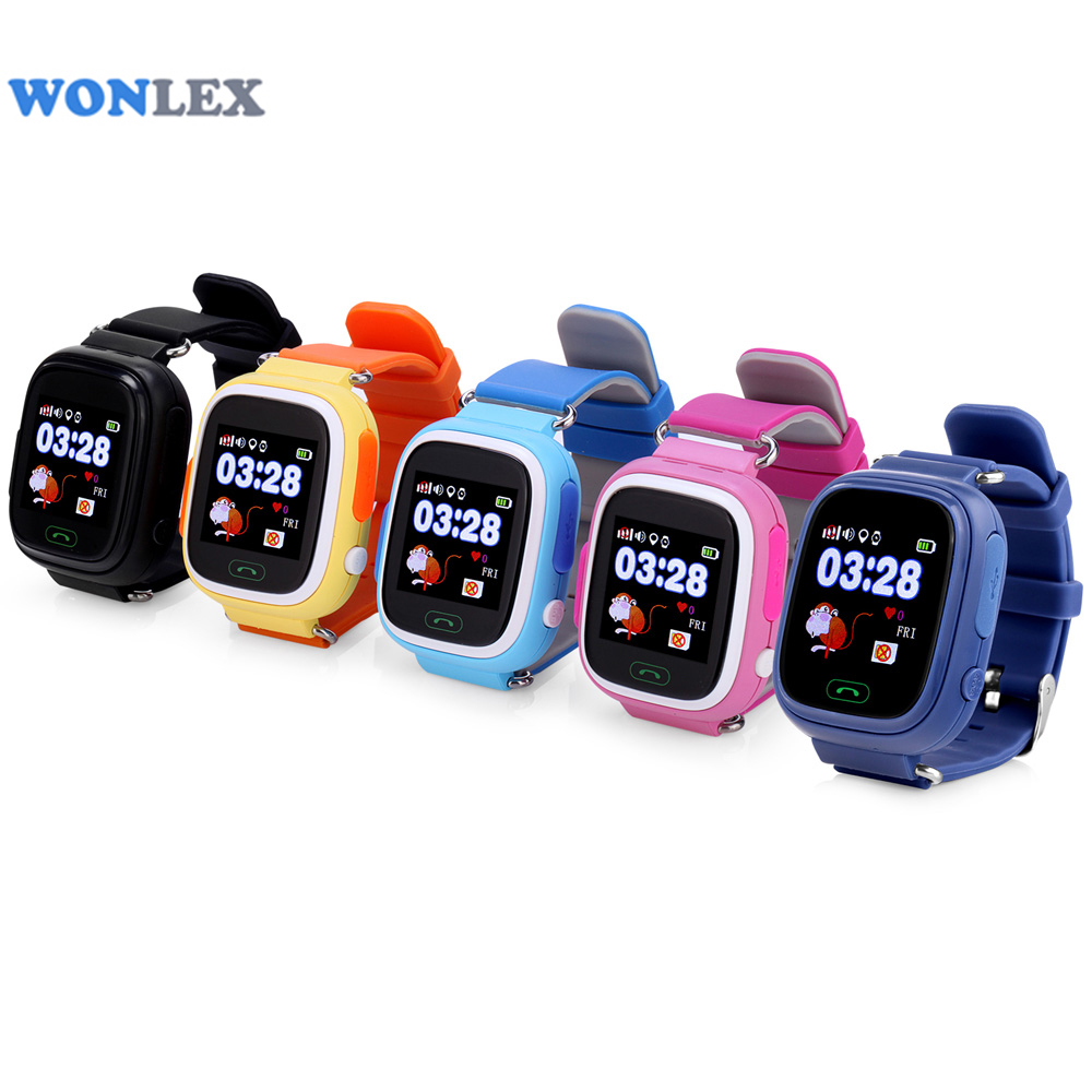 Wonlex GW100 MTK2503 LBS/GPS/Beidou/WIFI Positioning Touch Screen Smart Phone Kids GPS Watch Children Tracker Anti-Lost Watch