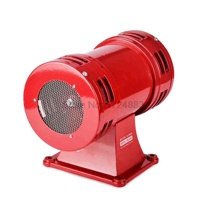 Motor siren MS-490 220V High decibel Air Raid Siren Horn Motor mining industry Double Industry Boat Alarm ms 490 ac 110v 220v 150db motor driven air raid siren metal horn double industry boat alarm