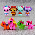 10Pcs/lot 2-3cm Random Littlest Pet Shop Lalaloopsy Figures Toys Doll Kid Gift