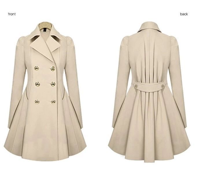 reputation first clear and distinctive fashion 2018 Autumn Winter warm peacoat Women Fashion OL Trench Faux ...