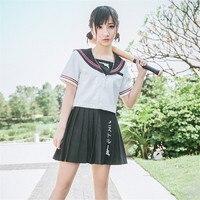 Novo Japonês/Coreano Upotte!! Trajes Cosplay Uniformes Escolares Estudante Bonito Da Menina Estudante Terno de Marinheiro JK Top + Bra + Saias Conjuntos