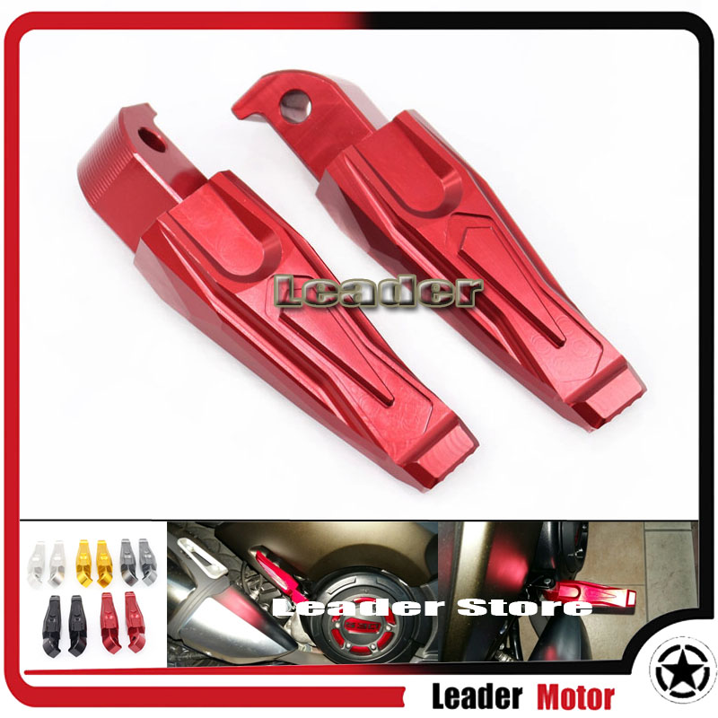Motorcycle Accessories Rear Passenger Foot Peg Footrests For Yamaha T-MAX 530 T-MAX530 12-15 T-MAX 500 T-MAX500 08-11 NMAX 155 red black motorcycle cnc aluminum rear foot peg footrest rear passenger footrest for yamaha tmax 500 t max530 mt07 mt09