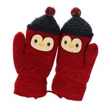 DE157 Cute Winter Warm Child Boy Girl Cartoon Full Finger