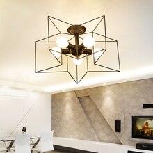 Nordic Modern Creative E27 Pentagonal Roof Lighting Living Room Corridor Cafe Art Balcony led