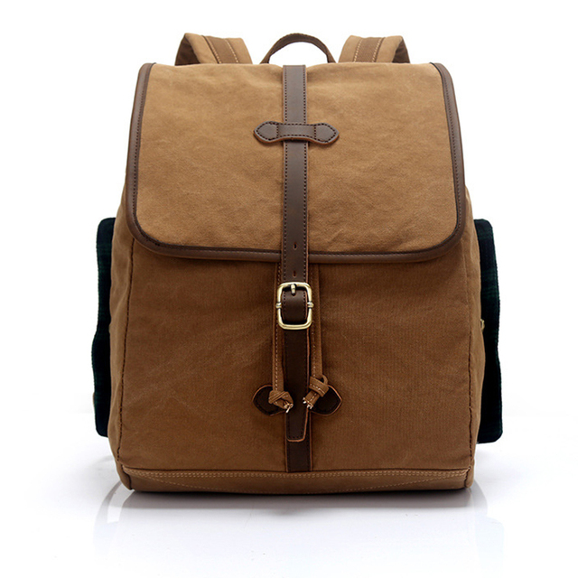 Men s Women s Canvas Leather Cotton Bag Rucksack Mountaineering Book Laptop  Backpack School Casual Backpacks for Travel 773129e65f