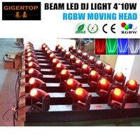 RGBW 4 Head Moving Head Licht 4 stks * 10 w 4IN1 Led Matrix Moving Head Licht Led Beam Stage licht 13/39DMX CHs Led Bar Beam Light