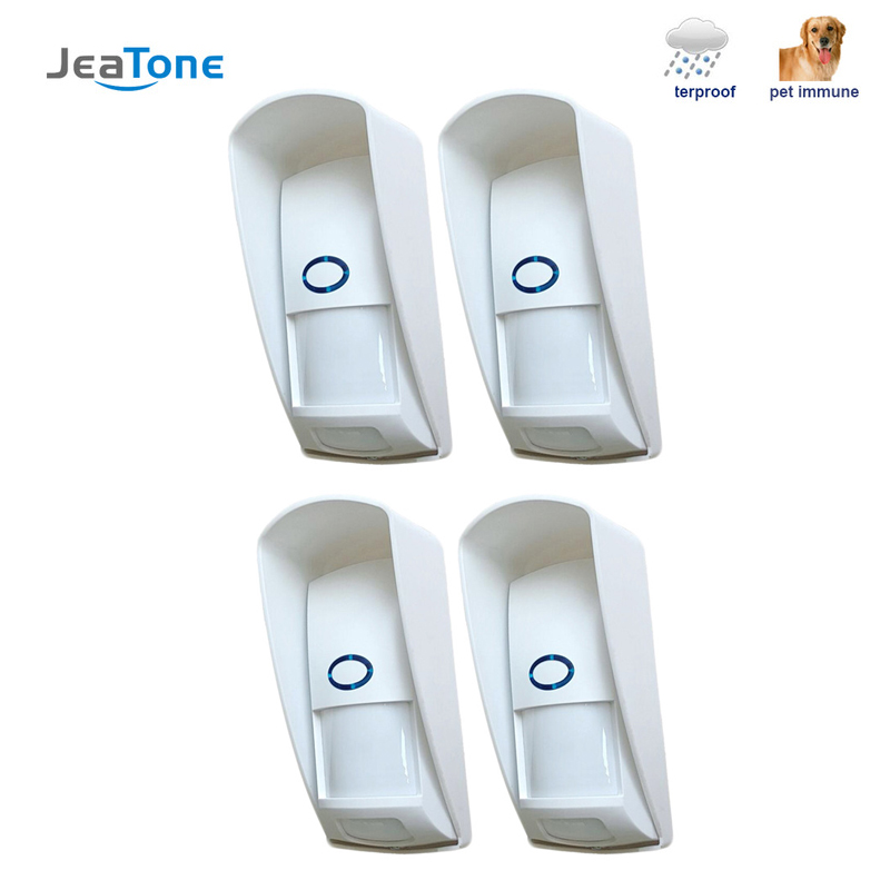 JeaTone 1 pz 2 pz 4 pz Wireless PIR sensore A Infrarossi Rivelatore di Movimento 433 mhz pet Immune Impermeabile per La Casa sistema di Allarme di sicurezzaJeaTone 1 pz 2 pz 4 pz Wireless PIR sensore A Infrarossi Rivelatore di Movimento 433 mhz pet Immune Impermeabile per La Casa sistema di Allarme di sicurezza