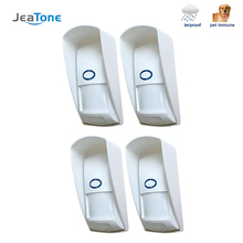 цена на JeaTone 1pcs 2pcs 4pcs Wireless PIR sensor Infrared Motion Detector 433Mhz pet Immune Waterproof for Home Security Alarm System