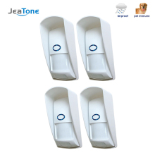 цены JeaTone Wireless PIR sensor Infrared Motion Detector 433Mhz pet Immune Waterproof for Home Security Alarm System 1pcs 2pcs 4pcs