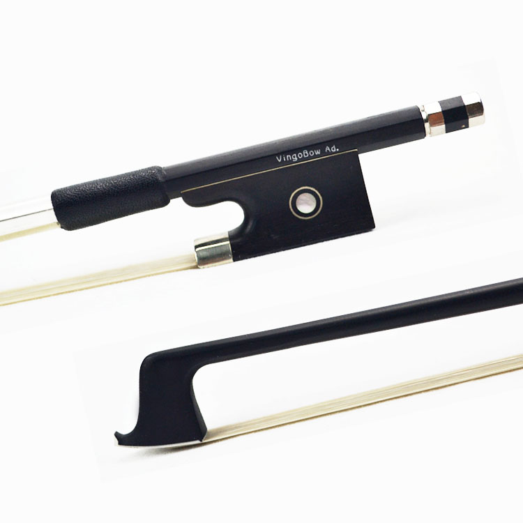 FREE SHIPPING 4/4 Size Black Carbon Fiber VIOLIN BOW Good Quality Ebony Frog White Violin Bow Hair Violin Parts Accessories 100V free shipping 4 4 size 430c pernambuco cello bow high quality ebony frog with shield pattern white hair cello parts accessories