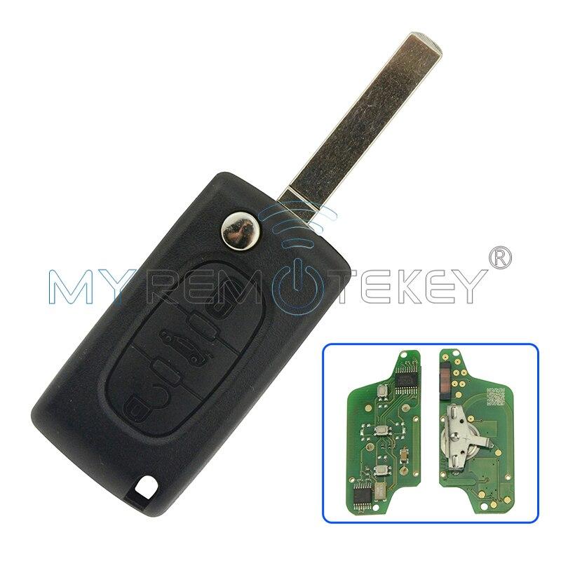 Remtekey CE0523 Flip remote autoschlüssel 3 taste mittleren stamm für Peugeot schlüssel für Citroen schlüssel FRAGEN 433 mhz ID46-PCF7941 VA2