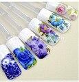 12 шт. переброски вод ногтей наклейки наклейки для ногтей искусство украшения инструменты Красоты цветочного дизайна