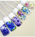 12pcs water transfer nail decals stickers for nail art  decorations tools Beauty flower design