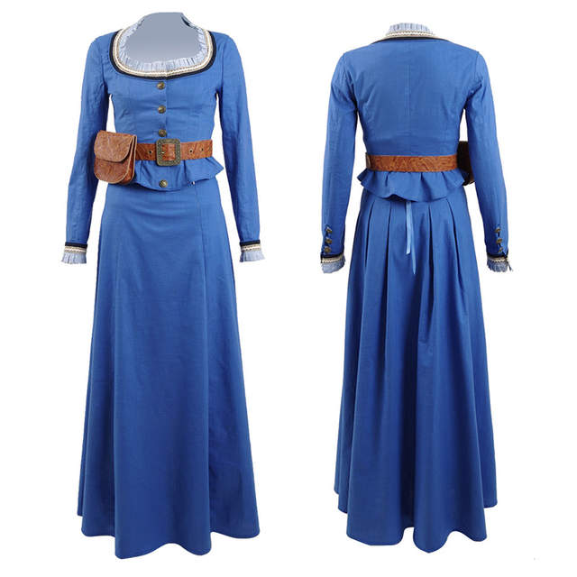 b48bf00141 placeholder Westworld Dolores Abernathy Dress Cosplay Costume Women fancy  Blue Dresses Party Halloween Shirt Long Skirt Free DHL