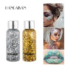Shinning Eye Glitter Waterproof Hair Body Face Gel Art Flash Heart Loose Sequins Cream Festival Decoration Party