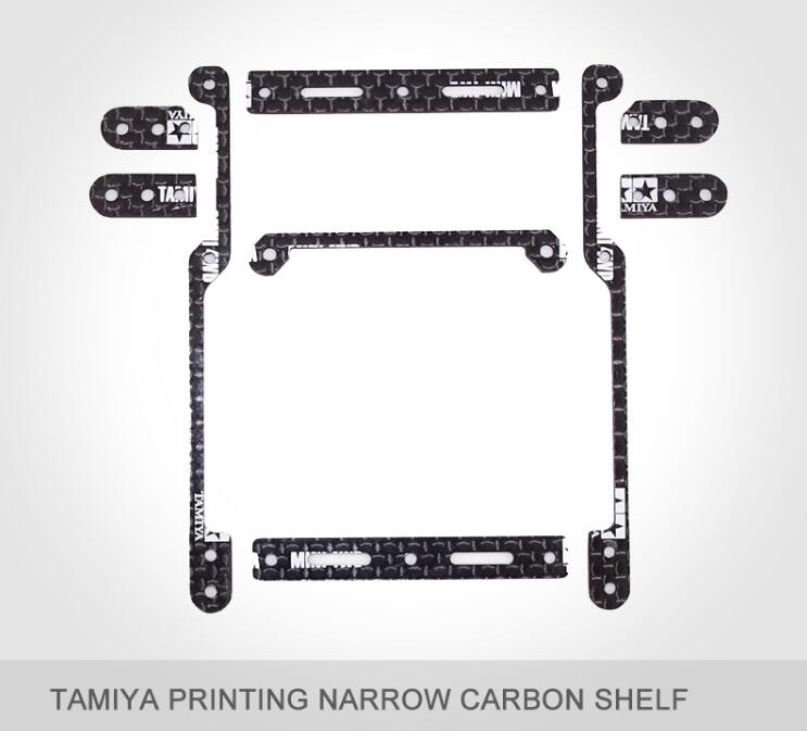 1 Set Narrow/Wide Carbon Fiber Shelf Lifting Frame Hanger 15495 MA/MS/S2/S1/AR/VS/TZ Chassis Spare Parts For Tamiya Mini 4WD Car 1set super fm sfm evo ver 2 reinforcing carbon fiber chassis plate upgrade spare parts for tamiya mini 4wd car model