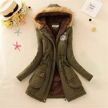 2016 New Winter Jacket Women Fur Parka Thick Warm Outerwear Plus Size Down Coat Long Slim Design Cotton-padded Jackets And Coats