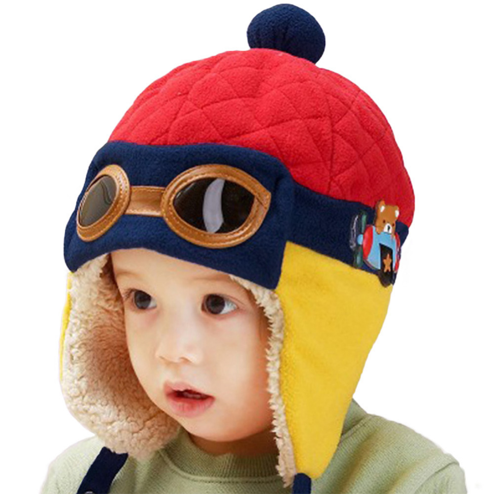 4 Colors Lovely Autumn Winter Toddlers Warm Cap Hat Beanie Cool Baby Boy  Girl Kids Infant Winter Pilot Cap Children Kids Hat-in Hats   Caps from  Mother ... 736b6fac4b7