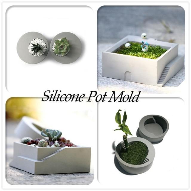 b ton d coratif pot moules pot de fleur artisanat silicone moules en b ton moules planteur pour. Black Bedroom Furniture Sets. Home Design Ideas