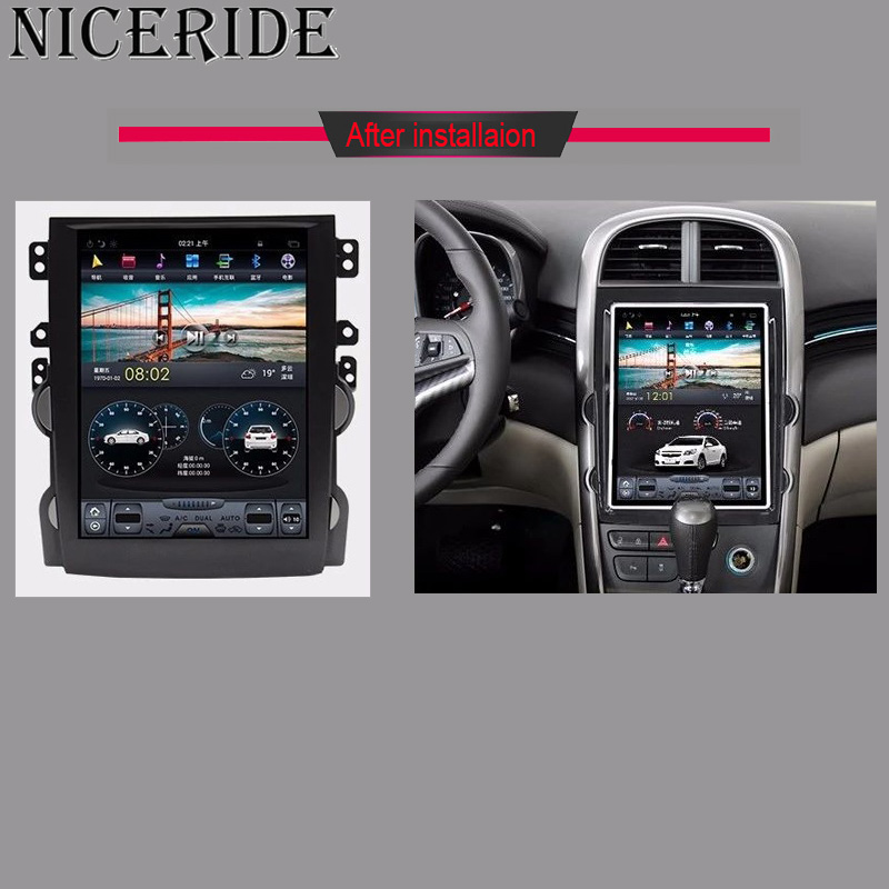 """Sale Android 7.1 10.4"""" Tesla Vertical Touch Screen Gps Multimedia for Chevrolet Malibu 2010-2014 Video Radio Player In Dash Navigaton 5"""