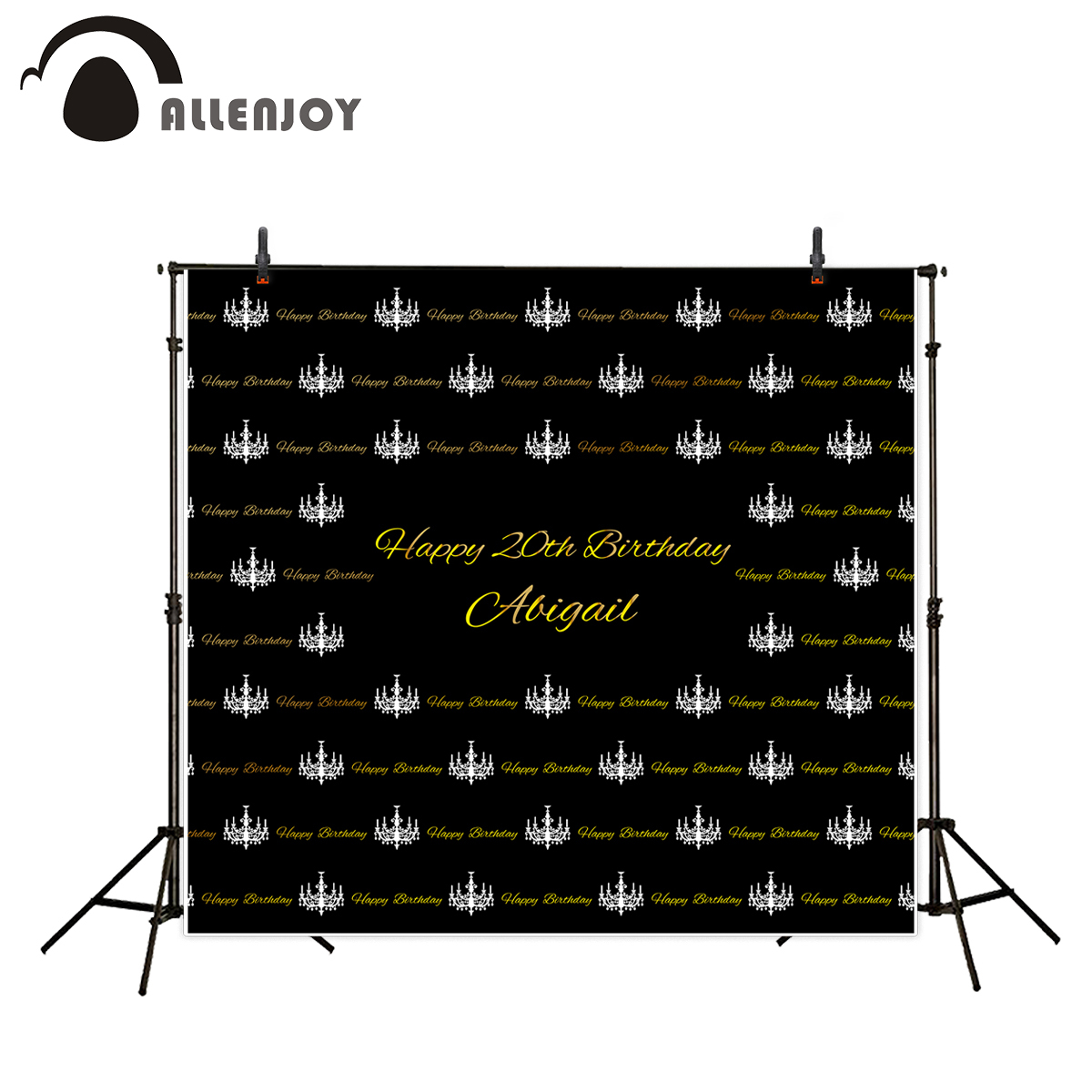 Allenjoy vinyl backdrops for photography Black Crown Candle Gold Custom Birthday sweet celebration photography backdrops vinyl custom photography backdrops prop graffiti