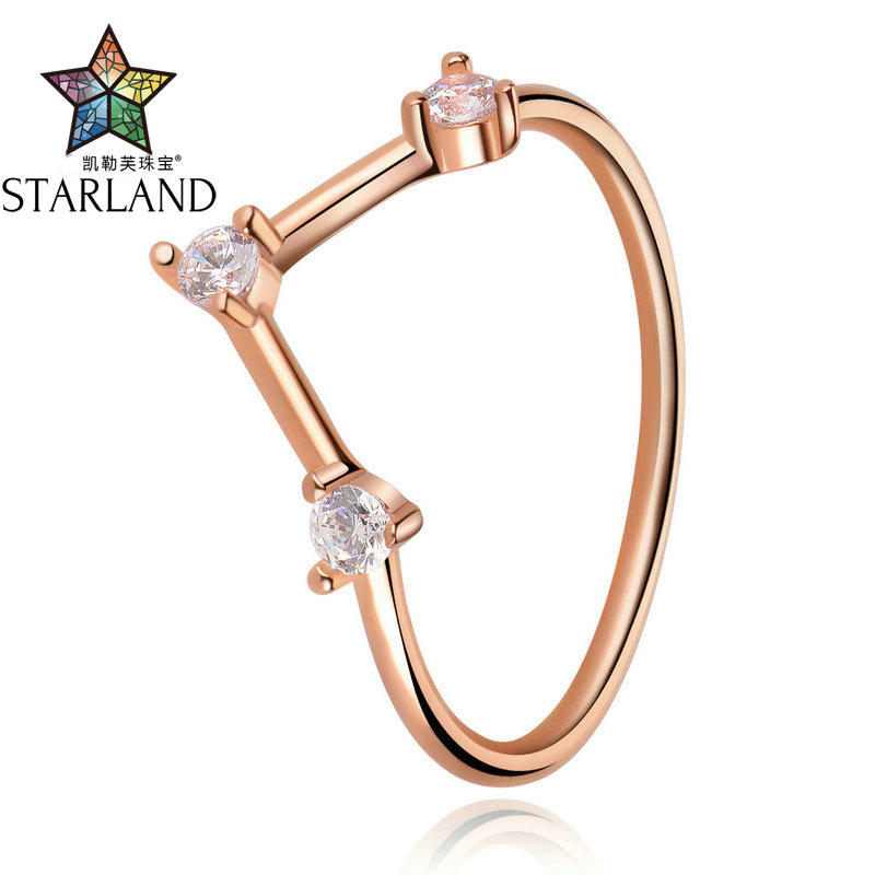 Starland New OL Style 925 Sterling Silver With CZ V Shape Rings for Women Ladies Engagement Party Fashion Ring Fine Jewelry GiftStarland New OL Style 925 Sterling Silver With CZ V Shape Rings for Women Ladies Engagement Party Fashion Ring Fine Jewelry Gift