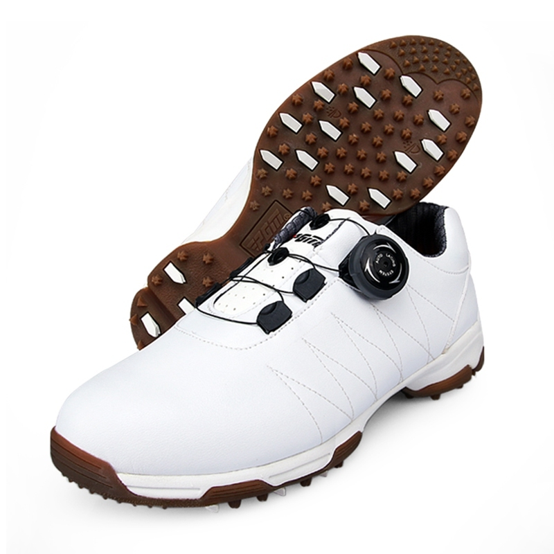 Anti-slip Golf Shoes Womens spring and autumn Breathable Sports Sneakers Waterproof Shockproof Pro Training Shoes Flats