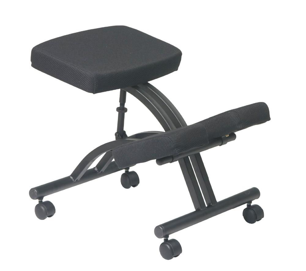 Schreibtisch hocker ergonomisch  Ergonomisch Gestaltete Knie Stuhl mit Rollen und Memory schaum ...