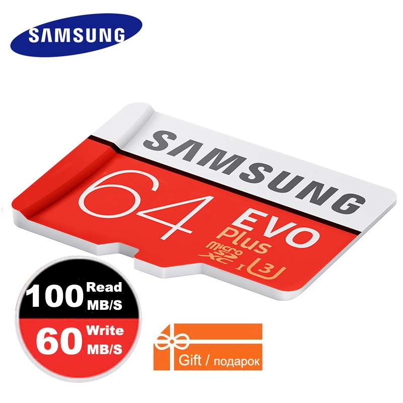 SAMSUNG Micro SD Class10 Cartão De Memória de 64 gb 32 GB 128 GB Plus À Prova D' Água TF Cartão de Memoria Sim Card Trans Mikro 128 GB Para telefones inteligentes