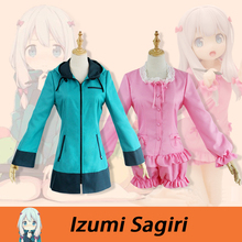 Eromanga Sensei Izumi Sagiri Cosplay Costume Pajamas Pink Uniform Suit Outfit Clothes Top & Shorts Set Stock