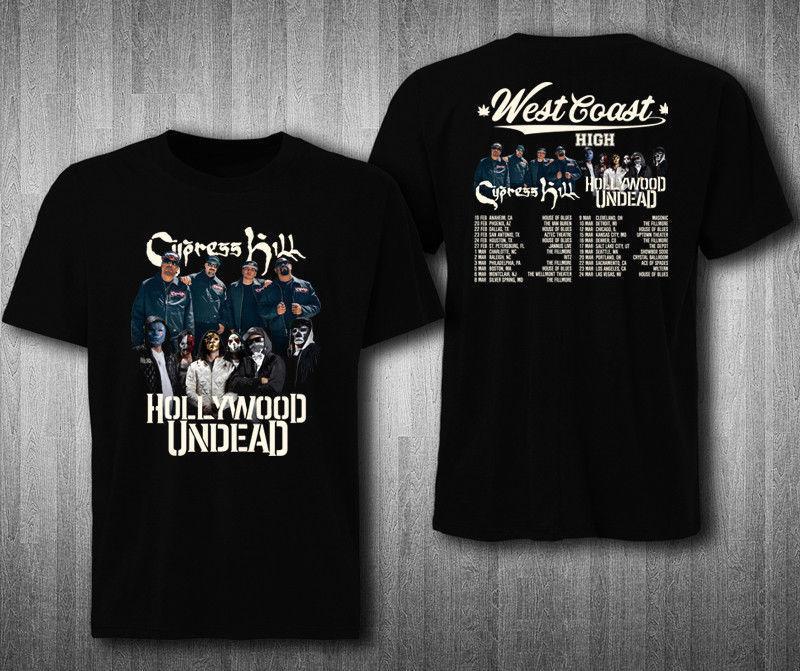 07067b0c725 Cypress Hill с голливудским нежити Тур 2019 2 стороны футболка все размеры  рукавом летняя для мужчин футболки верхняя одежда