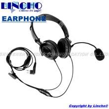 2 PIN folding noise canceling headphones for walkie talkie Radios GP2000 GP300 GP308 GP68 GP88